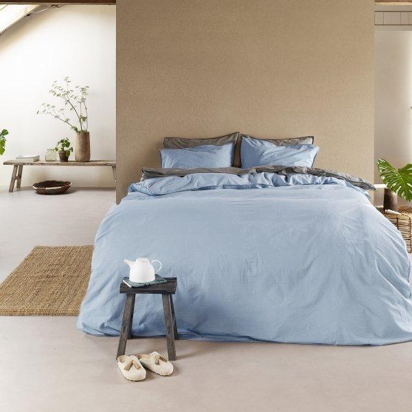 Stonewashed - Licht Blauw - 140 x 200