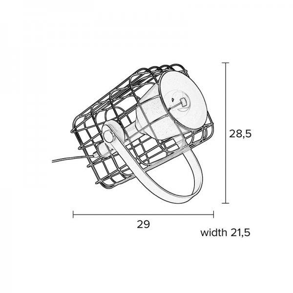 Tafellamp Cage - Wit