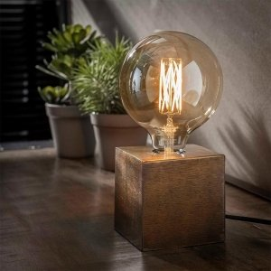 Tafellamp Modesto - Brons Antiek - Bruin