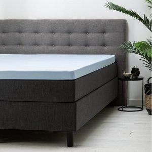Topper Hoeslaken Katoen - Blauw - 180 x 200