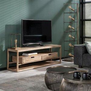 Tv meubel Crawley - 2 Lades - Bruin