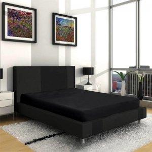VP - Dubbel Jersey Hoeslaken - Zwart - 90 x 200