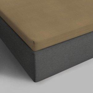 Verkoelend Katoenen Topper Hoeslaken - Taupe - 90 x 200