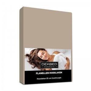 Verwarmend Flanel Hoeslaken - Taupe - 180 x 210