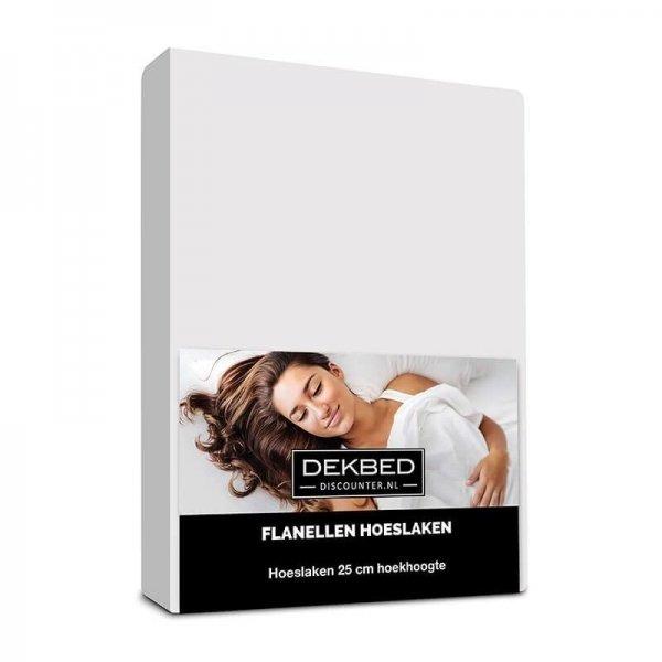 Verwarmend Flanel Hoeslaken - Wit - 180 x 200