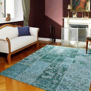 Vloerkleed Alanis Allover - Aqua - Blauw - 170 x 240