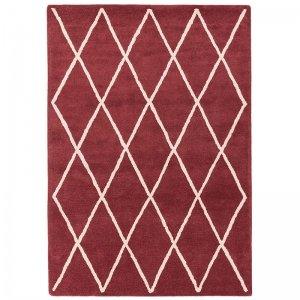 Vloerkleed Albany Diamond - Berry - Rood - 120 x 170