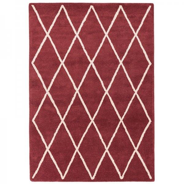 Vloerkleed Albany Diamond - Berry - Rood - 160 x 230