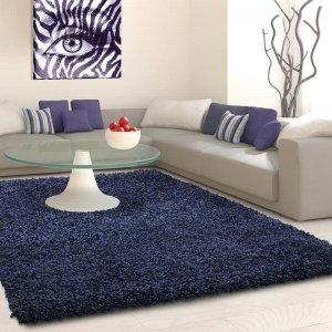 Vloerkleed Antalya Rechthoek - Navy - Blauw - 160 x 230