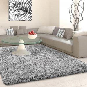 Vloerkleed Antalya Rechthoek - Zilver - Grijs - 120 x 170