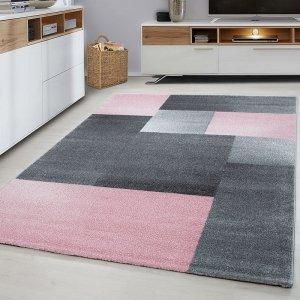 Vloerkleed Blocks - Roze - 80 x 150