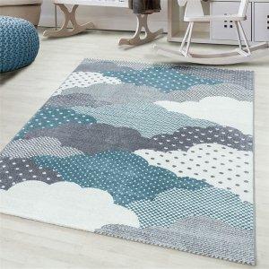 Vloerkleed Clouds - Blauw - 80 x 150