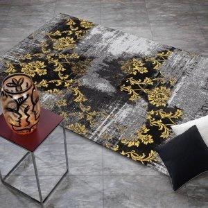 Vloerkleed Diana Melody - Grijs/Geel - 80 x 300