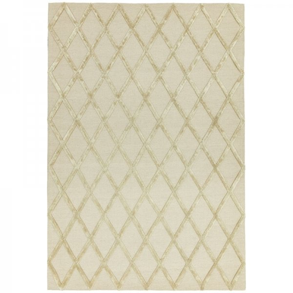 Vloerkleed Dixon - Gold Diamond - Wit - 160 x 230