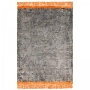 Vloerkleed Elgin - Grey/Orange Border - Grijs - 160 x 230