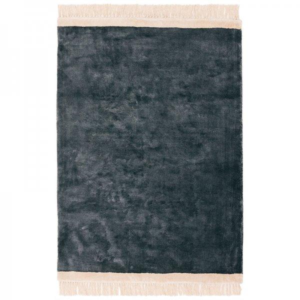 Vloerkleed Elgin - Petrol/ Pink Border - Antraciet - 200 x 290