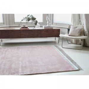 Vloerkleed Elgin - Pink/ Silver Border - Roze - 200 x 290