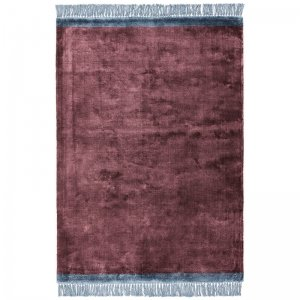 Vloerkleed Elgin - Plum/ Blue Border - Blauw - 160 x 230
