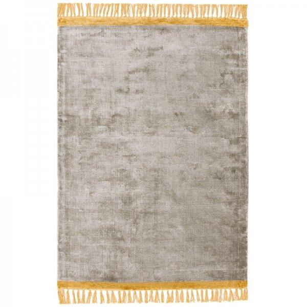 Vloerkleed Elgin - Silver/ Mustard Border - Geel - 160 x 230