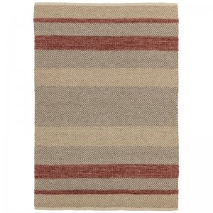 Vloerkleed Fields - Red - Rood - 160 x 230