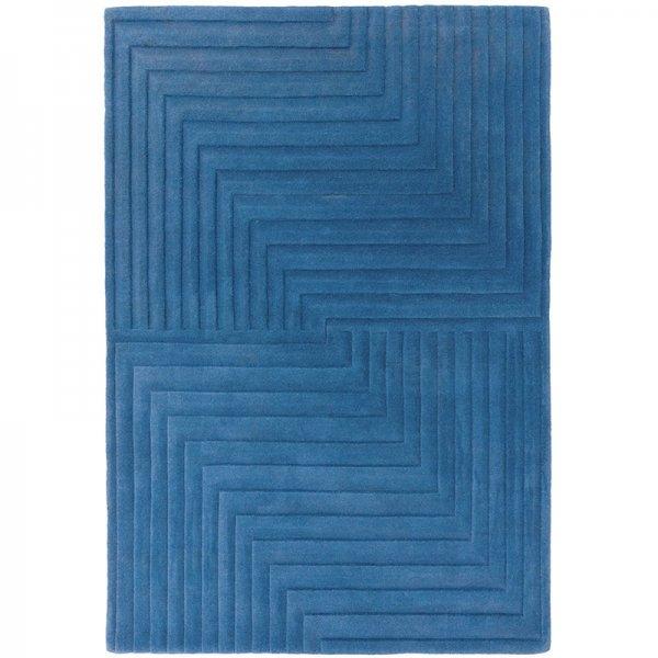 Vloerkleed Form Rug - Blue - Blauw - 160 x 230