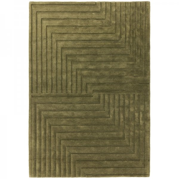 Vloerkleed Form Rug - Green - Groen - 120 x 170