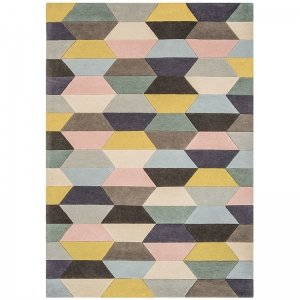 Vloerkleed Funk - Honeycomb Pastel - 170 x 240