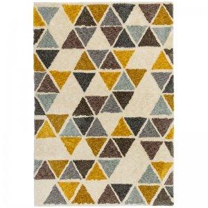 Vloerkleed Gala - Yellow Triangle - Geel - 120 x 170