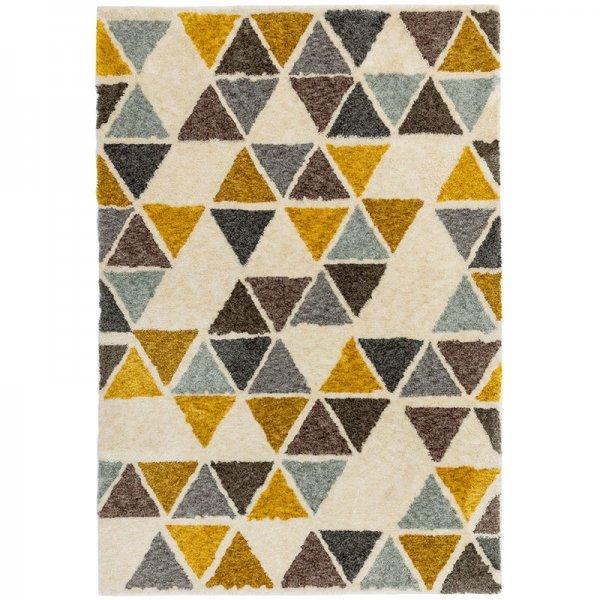 Vloerkleed Gala - Yellow Triangle - Geel - 160 x 230