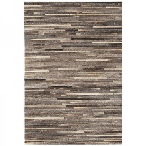 Vloerkleed Gaucho Rug - Dark Grey Stripe - Creme - 200 x 300