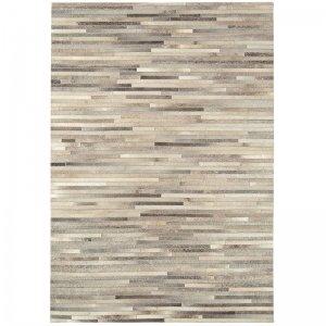 Vloerkleed Gaucho Rug - Light Grey Stripe - Creme - 160 x 230
