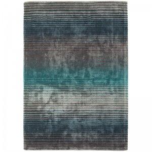 Vloerkleed Holborn - Turquoise - Antraciet - 160 x 230