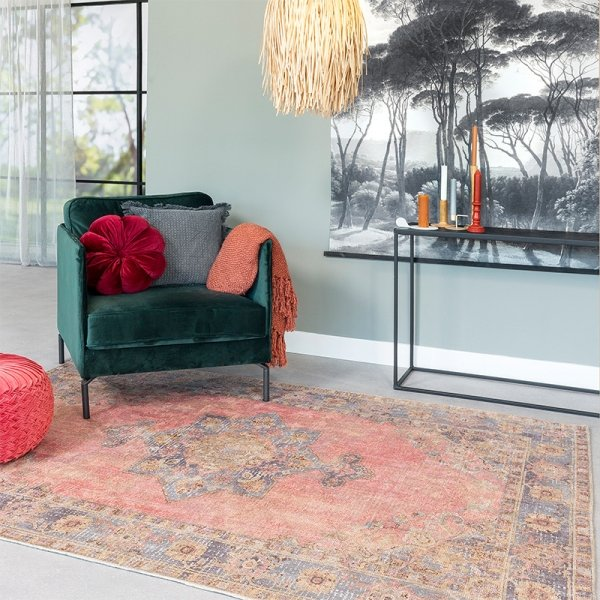 Vloerkleed Inverness - Roze - 160 x 230