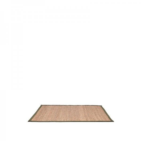 Vloerkleed Jute - Army - Rechthoek - Groen - 160 x 230