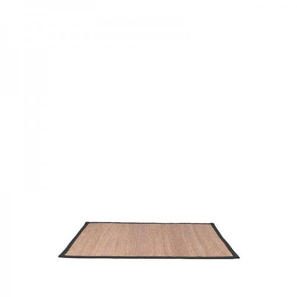 Vloerkleed Jute - Zwart - Rechthoek - Zand - 160 x 230