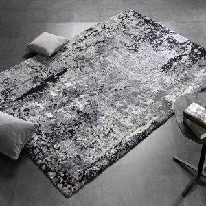 Vloerkleed Juwel Liray - Grijs - Antraciet - 80 x 150