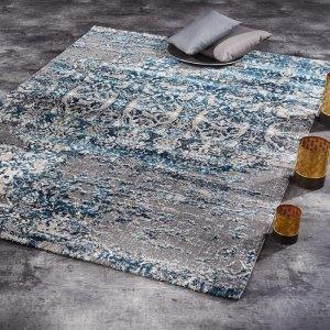 Vloerkleed Juwel Silenta - Petrol - Blauw - 120 x 170