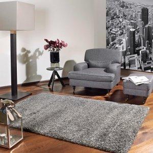 Vloerkleed Lobby Shaggy - Grijs - 80 x 150