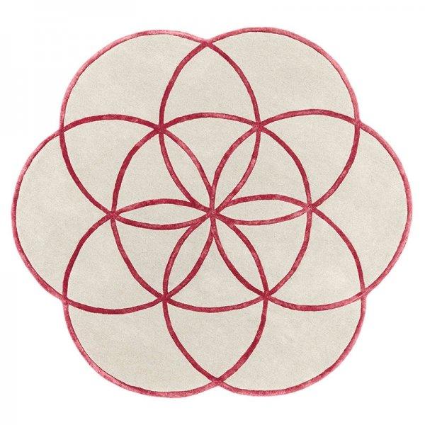 Vloerkleed Lotus - Red - Rood - 200 x 200