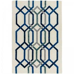 Vloerkleed Matrix Hexagon - White - 160 x 230