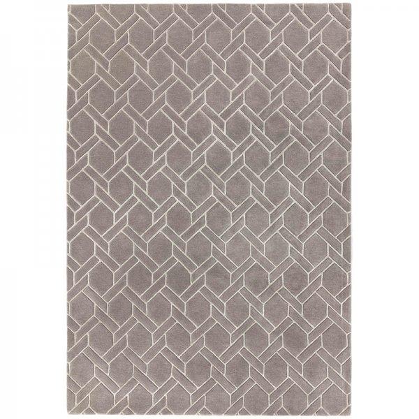 Vloerkleed Nexus - Fine Lines Grey/Silver - 120 x 170