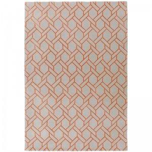 Vloerkleed Nexus - Fine Lines Silver/Orange - 120 x 170