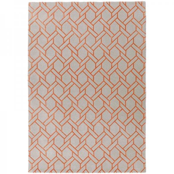Vloerkleed Nexus - Fine Lines Silver/Orange - 200 x 290