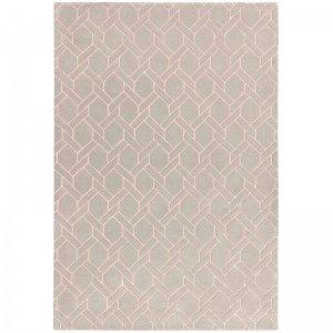 Vloerkleed Nexus - Fine Lines Silver/Pink - 120 x 170