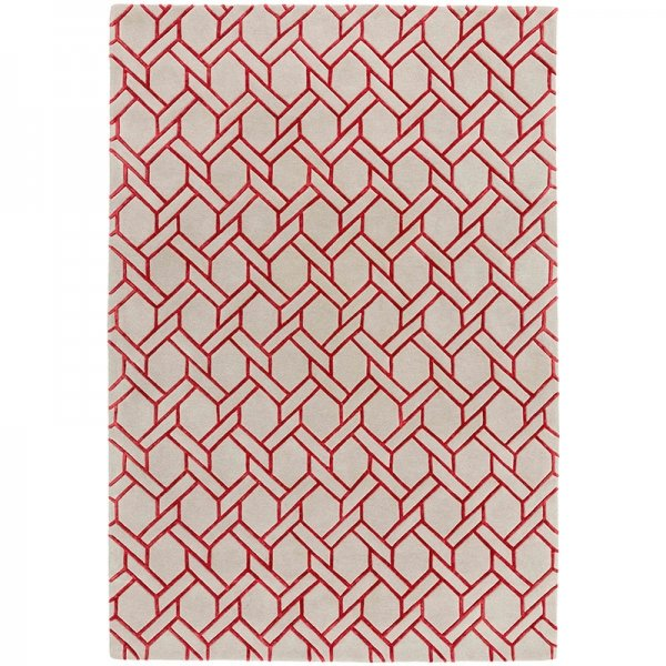 Vloerkleed Nexus - Fine Lines Silver/Red - 160 x 230