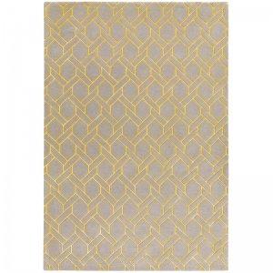 Vloerkleed Nexus - Fine Lines Silver/Yellow - 120 x 170