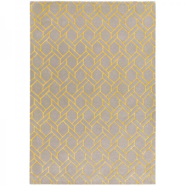 Vloerkleed Nexus - Fine Lines Silver/Yellow - 160 x 230