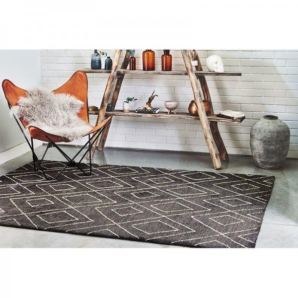 Vloerkleed Nomad - Dark Grey - Grijs - 200 x 290