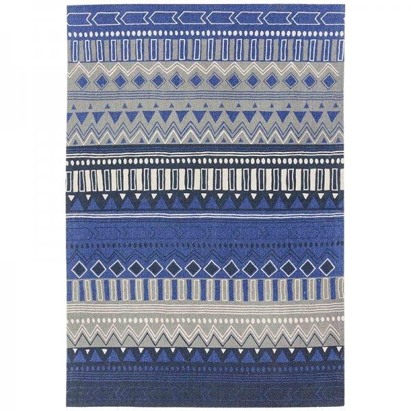 Vloerkleed Onix - Tribal Mix Blue - 120 x 170