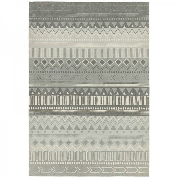 Vloerkleed Onix - Tribal Mix Grey - Grijs - 160 x 230